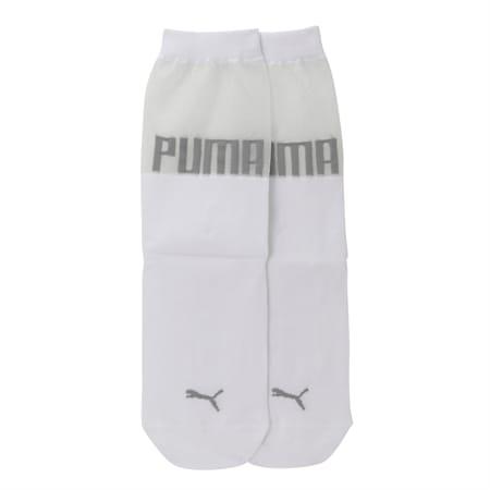 SG x PUMA Transparent Top Crew Socks [1 Pair], white, small-IND